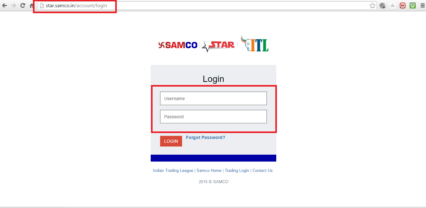 SAMCO Back office Login