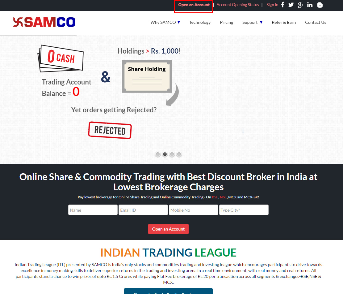 SAMCO Securities - Open an Account