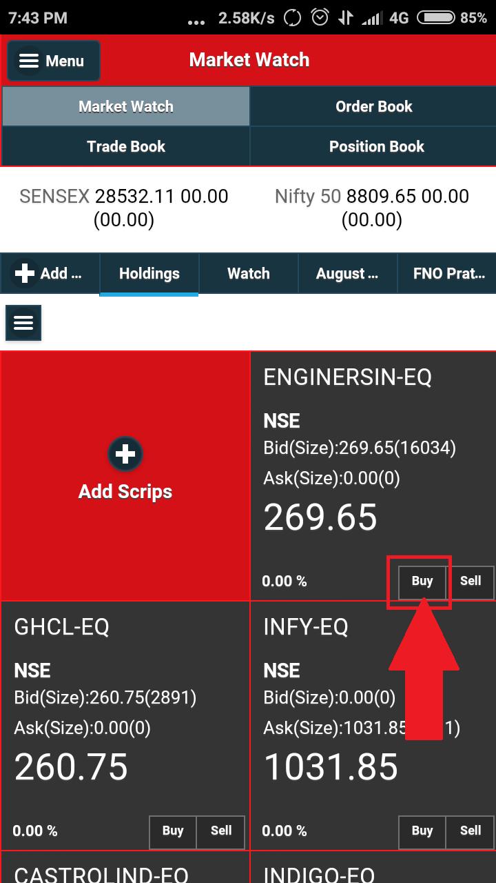 samco-mobile-trader-buy-nse-bse