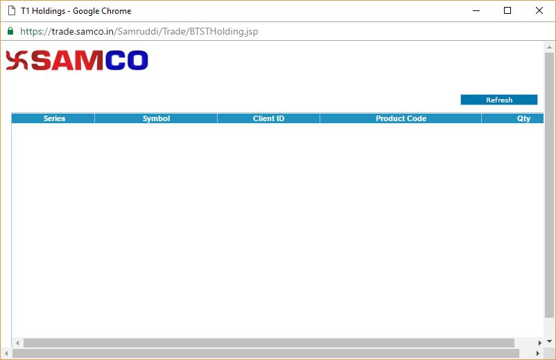 T1 Holdings in SAMCO Web