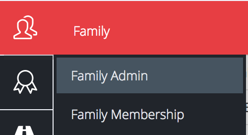 Family Admin Back Office - SAMCO STAR Menu Option