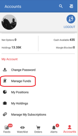 manage funds