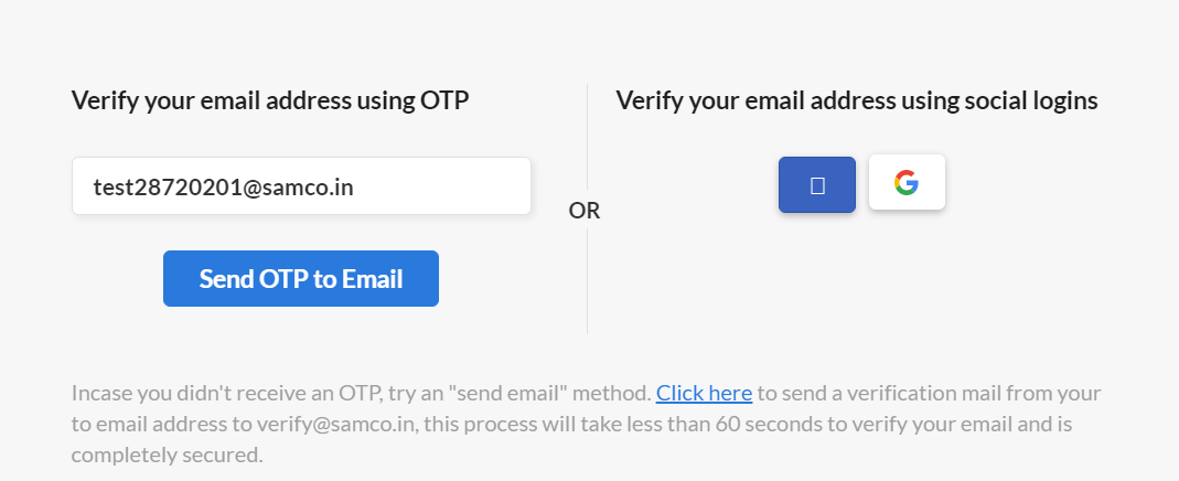 samco-account-email-verification