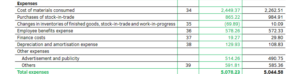 Income Statement Expenses